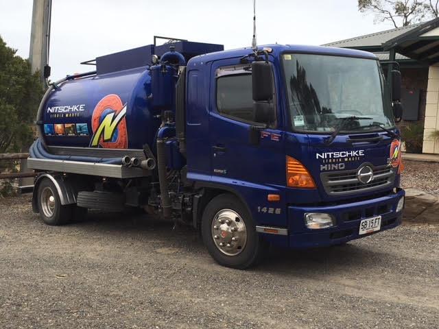 nitschke blue pumping truck