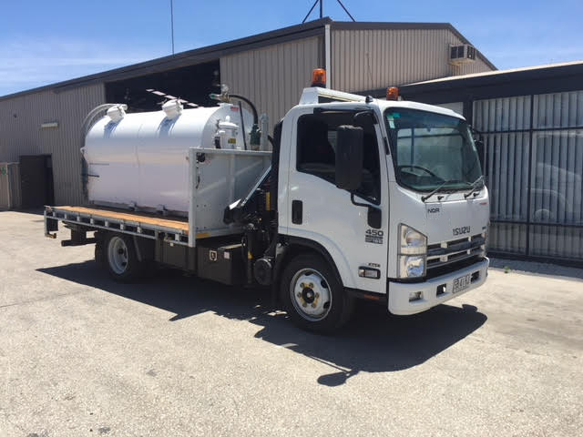 septic pumping truck at nitschke liquid waste depot