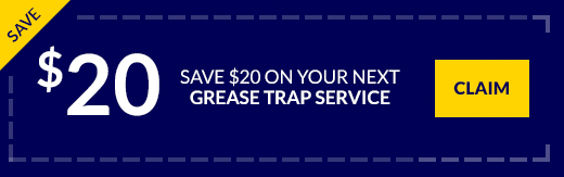$20 off coupon next grease trap service