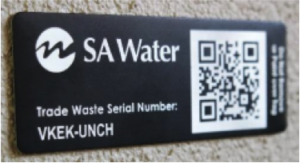 SA Water logo with QR CODE
