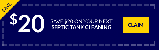 $20 off coupon for your next septic tank cleaning